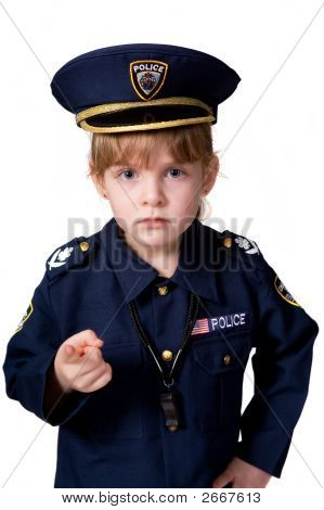 Little Cop With Attitude