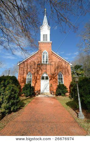 Historic Antebellum church in Madison, Georgia.
