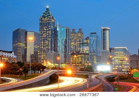 Downtown Atlanta, Georgia skyline