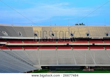ATHENS, GEORGIA - MAY 29: Sanford Stadium is home to the University of Georgia Bulldogs football team, a collegiate football team in the South Eastern Conference (SEC) shown on May 29, 2011 in Athens, Georgia.