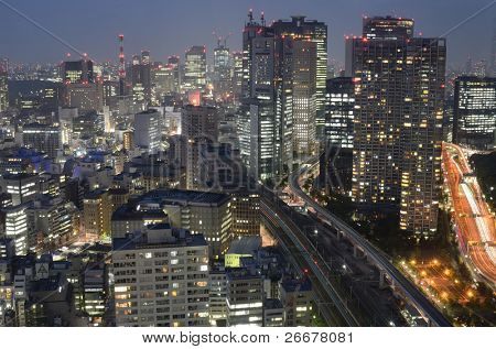 TOKYO, JAPAN - JULY 4: With nearly 35 million people, Tokyo is the world's most populous metropolis and is described as one of the three command centers for world economy July 4, 2011 in Tokyo, Japan.