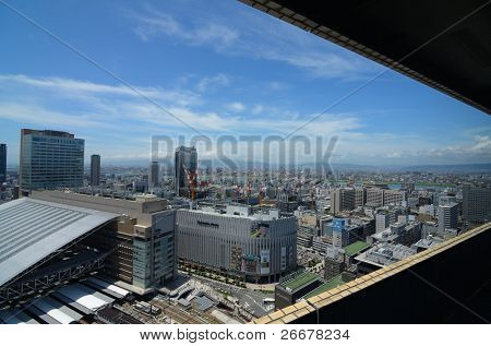 OSAKA, JAPAN - JULY 9: The newly rebuilt Osaka Station in Umeda is the largest transit hub in Western Japan and hosts upscale shops and fine dining establishments July 9, 2011 in Osaka, Japan.