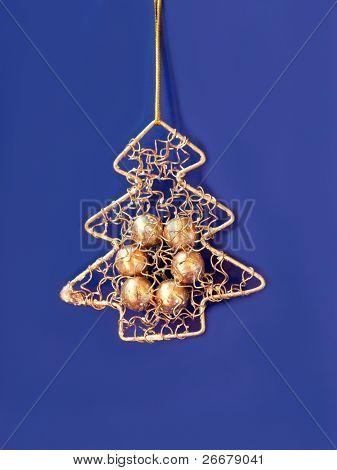 mini wiri Christmas tree as ornament
