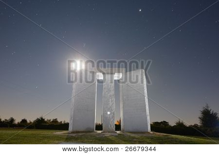 ELBERT, GEORGIA - OCTOBER 15: The Georgia Guidestones, occasionally referred to as