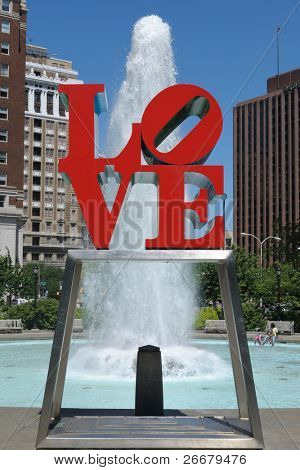 PHILADELPHIA - MAY 30: The love sculpture at Love Park May 30, 2010 in Philadelphia, PA. The sculpture was created for the American bicentennial by Robert Indiana and has since become a global icon.