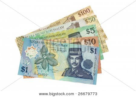 One set of Brunei money (Brunei currency)