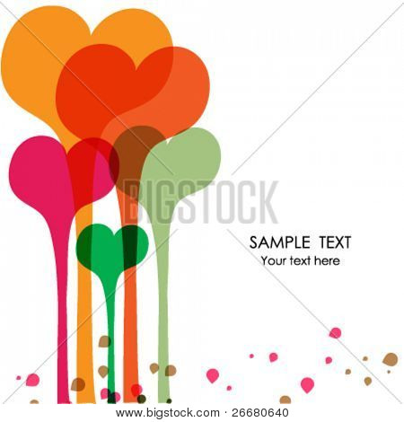 Greeting card with place for your text