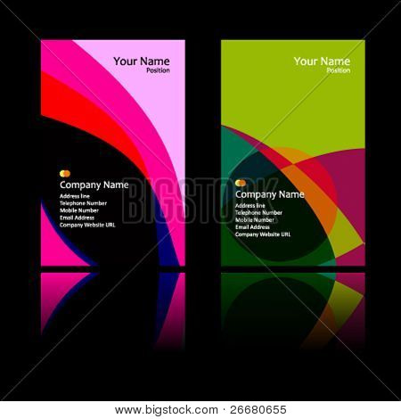 fantasy vector business card set