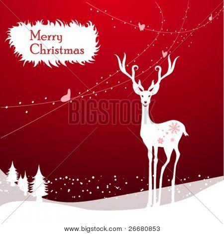 Tarjeta de felicitación de Navidad de Vector