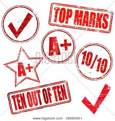 Top marks rubber stamps