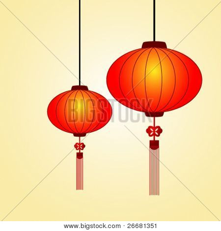 Traditional Chinese lanterns for happy event