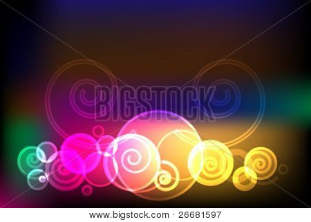 abstract mystical multi colored background