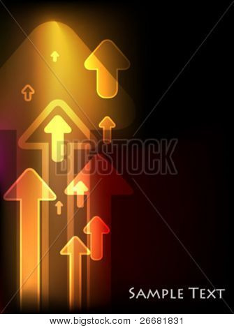 Abstract arrows light background. Vector illustration  (JPG version is also available)