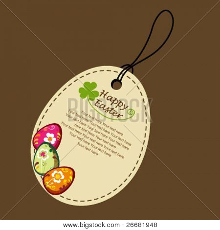 Decorative easter eggs. greeting card.