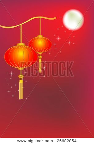 Full moon background for traditions of Chinese Mid Autumn Festival or Lantern Festival