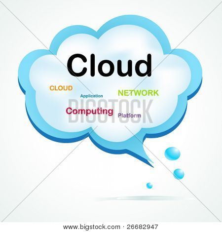 Speech cloud bubble concept design