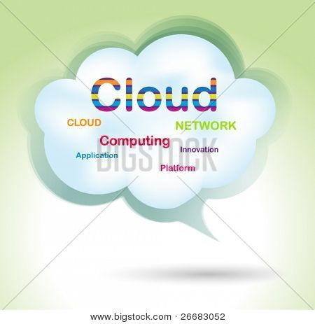 Speech cloud bubble - concept design