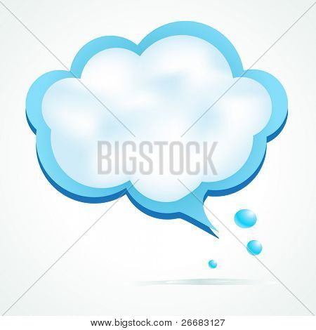 Cloud speech bubble with place for your text