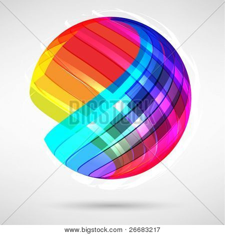 Abstract bright shiny lball