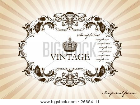 Vintage Framework with beams. Vector illustration