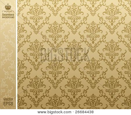seamless background vintage beige. vector illustration
