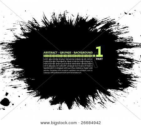 Grunge vector silhueta abstrata fundo banner borrão mancha de tinta