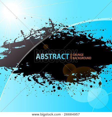 Abstract Grunge background shining sunlight. Vector illustration