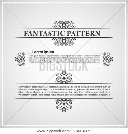 calligraphic elements vintage ornament text. Vector illustration
