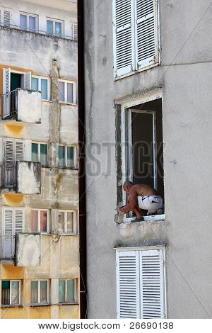construction worker in the window