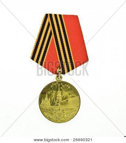badge USSR on white background