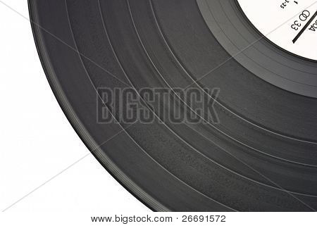 old dusty scratched vinyl record
