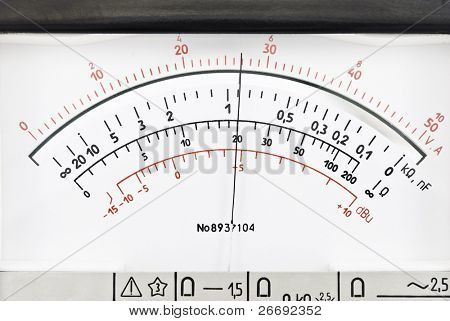 Vintage analog scale