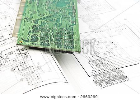 Electronic circuit plate and schematic diagram