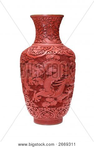 Old Chinese Red Vase