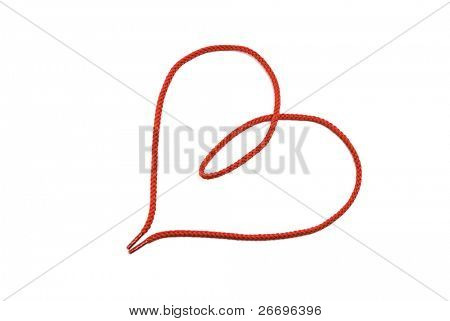 Red shoelace of heart