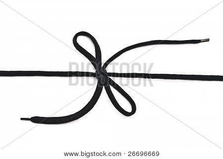 Black shoelace with bow