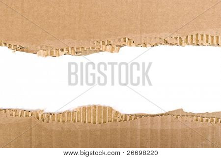 Corrugated cardboard border