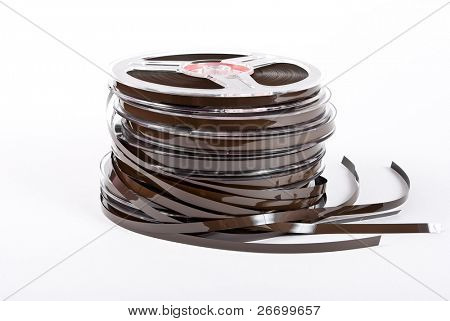 Stack of audio reels tapes