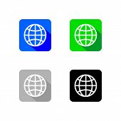 World Wide Web Icon App Collection, World Wide Web App Vector, Web Icon App, Web Icon poster