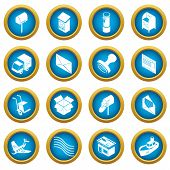 Poste Service Icons Set. Simple Illustration Of 16 Poste Service Icons Set Icons For Web poster