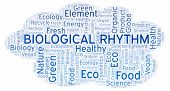 Biological Rhythm Word Cloud. Wordcloud Made With Text Only. poster