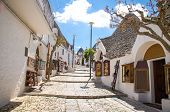 Town Of Alberobello, Village With Trulli Houses In Puglia Apulia Region, Southern Italy poster
