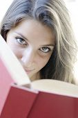 stock photo of mater  - Girl read a book - JPG