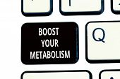 Conceptual Hand Writing Showing Boost Your Metabolism. Business Photo Text Increase The Efficiency I poster