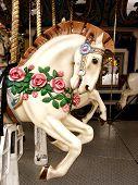 image of carousel horse  - Horse carousel portrait - JPG