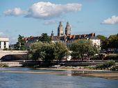 Tours Cathedral Is A Roman Catholic Church Located In Tours, Indre-et-loire, France. Its Name In Fre poster