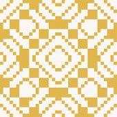 Vector Geometric Traditional Folk Ornament. Ethnic Tribal Seamless Pattern. Repeat Ornamental Backgr poster