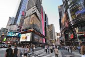 NEW YORK CITY - SEPTEMBER 4: The intersection of Broadway and 42nd Street, dubbed