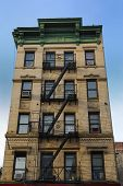 image of tenement  - Old new York CIty tenement architecture - JPG