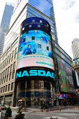 NEW YORK CITY - APRIL 18: The headquarters of the NASDAQ Stock Exchange, the second largest trading